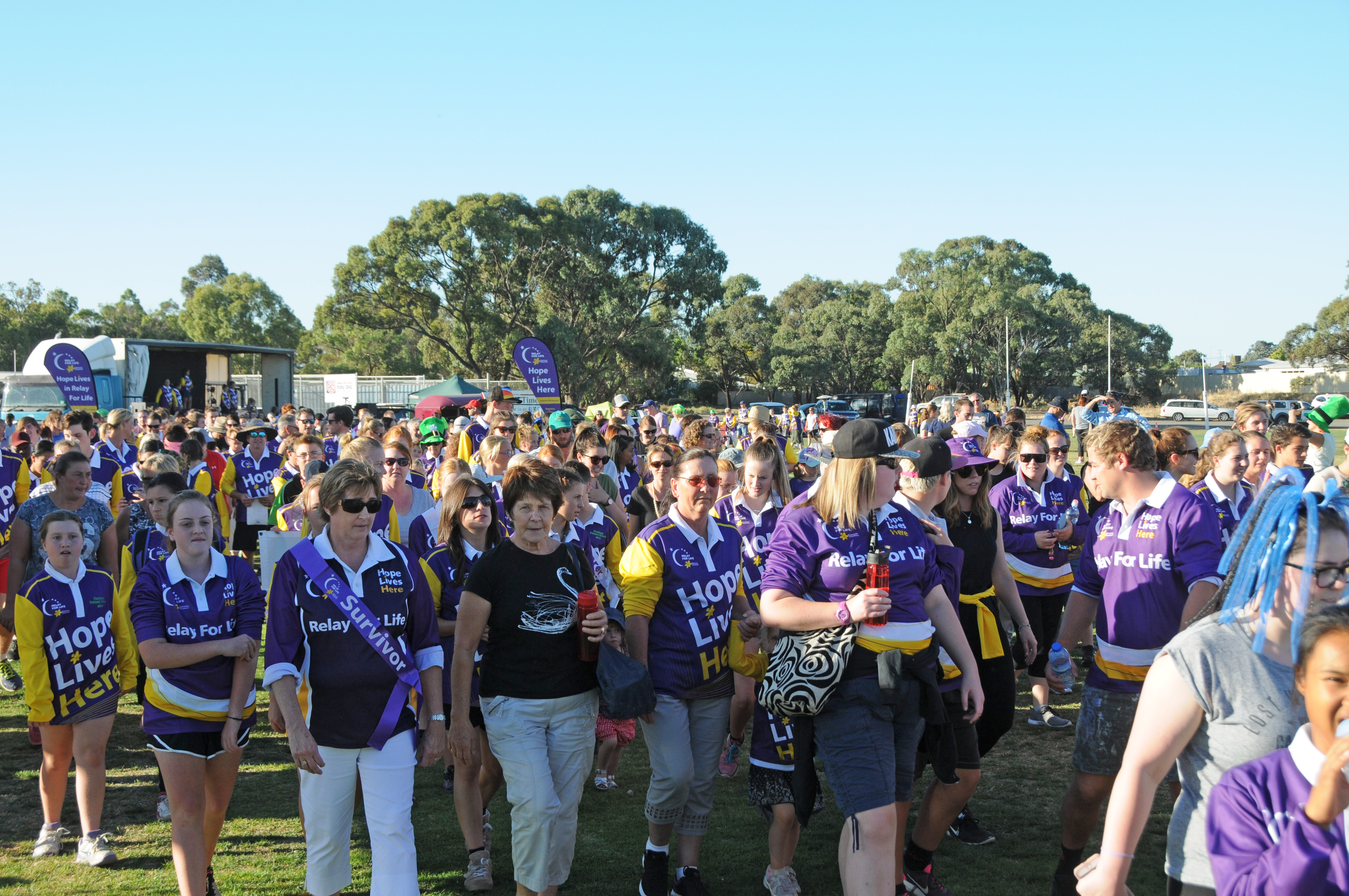 Image - Horsham and District Relay for Life, 170317. The relay has begun!