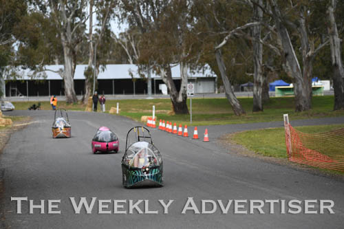 Image - Sebastian Le Roux, Holy Trinity Lutheran School, at the first Human Powered Vehicle 'expo' at Dimboola.